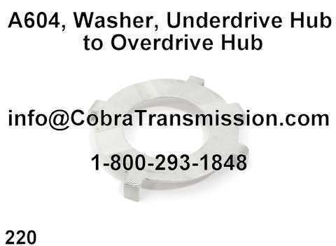 A604, Washer, Underdrive Hub to Overdrive Hub