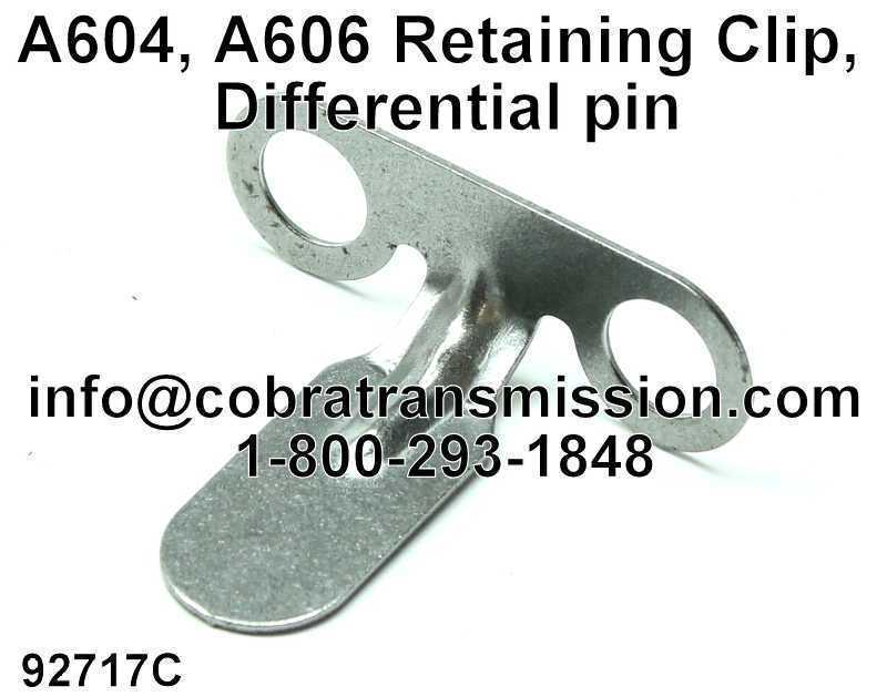 A604, A606 Retaining Clip, Differential pin