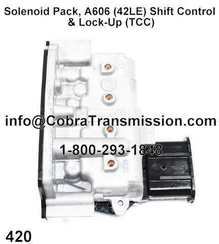 Solenoid Pack, A606 (42LE) Shift Control & Lock-Up (TCC)