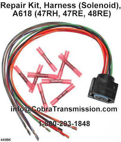 A618 47RH 47RE 48RE Harness solenoid Reapir Kit 94 04 solenoid, sensor , cobra transmission 48re wiring harness at eliteediting.co