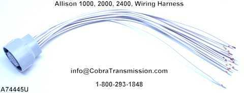 A74445U(allison) solenoid, sensor , cobra transmission allison transmission external wiring harness at crackthecode.co
