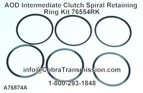 AOD Intermediate Clutch Spiral Retaining Ring Kit 76554RK