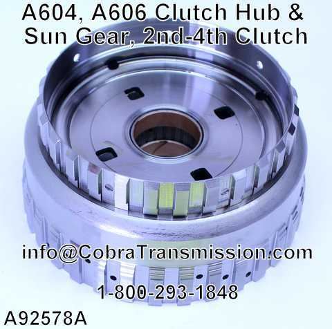 A604, A606 Clutch Hub & Sun Gear, 2nd-4th Clutch