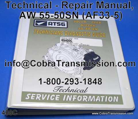 Technical - Repair Manual, AW 55-50SN (AF33-5)