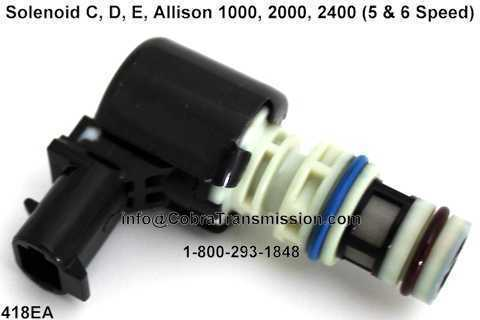 Solenoid C, D, E, Allison 1000, 2000, 2400 (5 & 6 Speed)