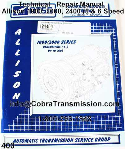 Technical - Repair Manual, Allison 1000, 2000, 2400 (5 & 6 Speed