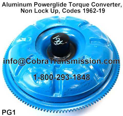 Aluminum Powerglide Torque Converter, Non Lock Up, Codes 1962-19