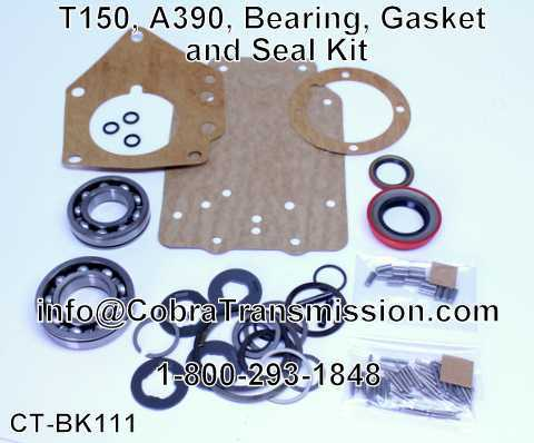 T150, A390, Bearing, Gasket and Seal Kit