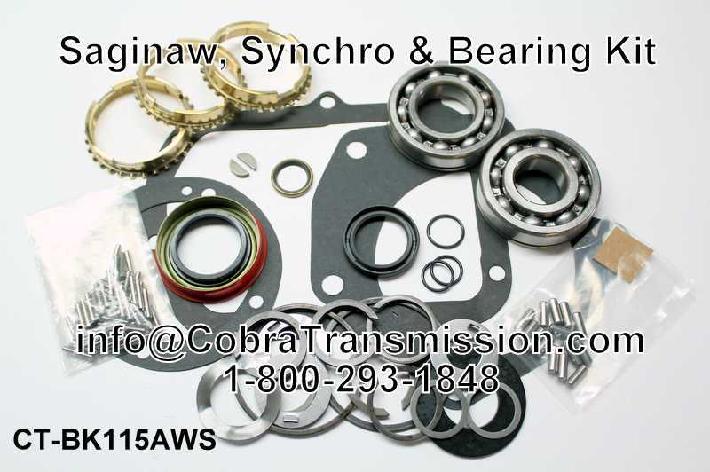 Saginaw Synchro, Bearing, Gasket and Seal Kit