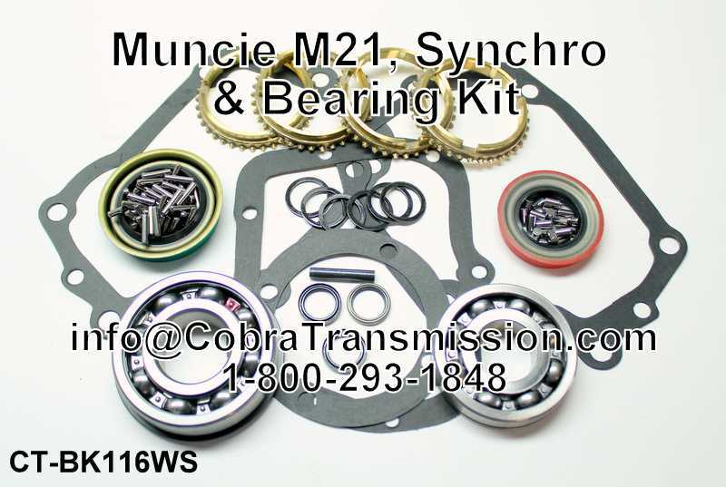 Muncie M21, Synchro, Bearing, Gasket and Seal Kit