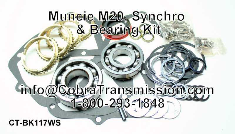 Muncie M20, Synchro, Bearing, Gasket and Seal Kit
