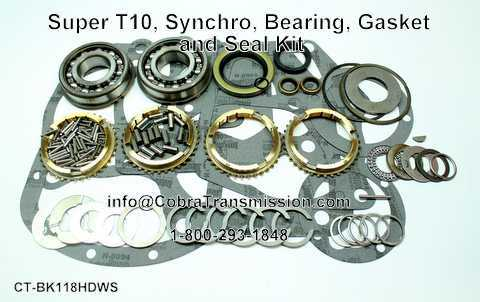 Super T10, Synchro, Bearing, Gasket and Seal Kit