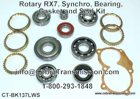 Rotary RX7, Synchro, Bearing, Gasket and Seal Kit
