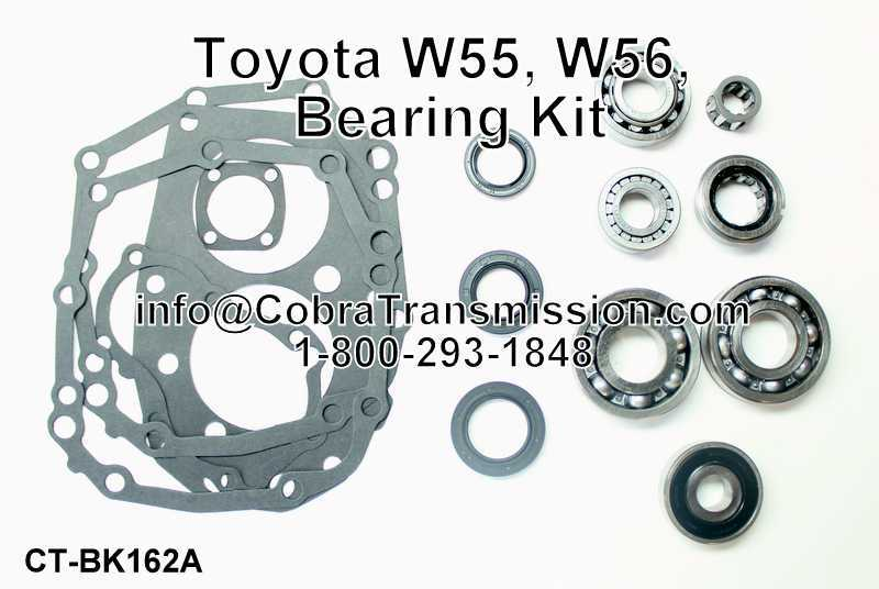 Toyota W55, W56, Bearing, Gasket and Seal Kit