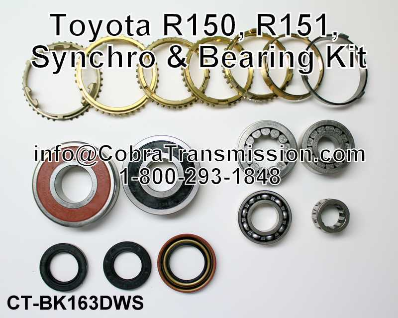 Toyota R150, R151, Synchro, Bearing and Seal Kit