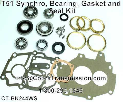 T51 Synchro, Bearing, Gasket and Seal Kit
