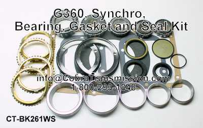 G360, Synchro, Bearing, Gasket and Seal Kit