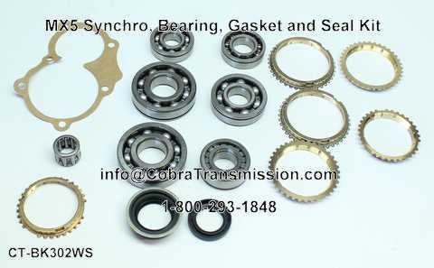 MX5 Synchro, Bearing, Gasket and Seal Kit