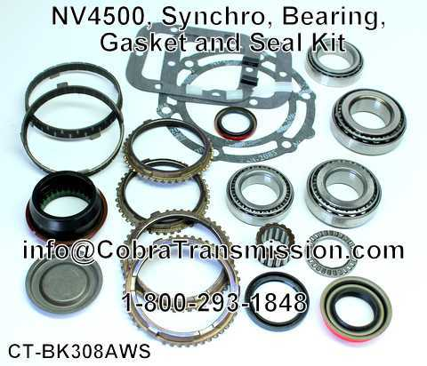 NV4500, Synchro, Bearing, Gasket and Seal Kit