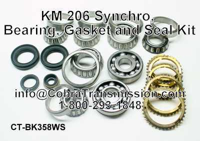 KM 206 Synchro, Bearing, Gasket and Seal Kit
