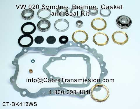 VW 020 Synchro, Bearing, Gasket and Seal Kit