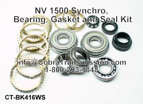 NV 1500 Synchro, Bearing, Gasket and Seal Kit