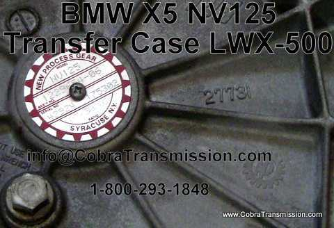 X5 Transfer Case Tag