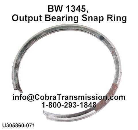 BW 1345, Output Bearing Snap Ring