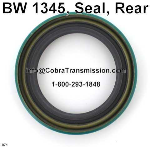 BW 1345, Seal, Rear Output