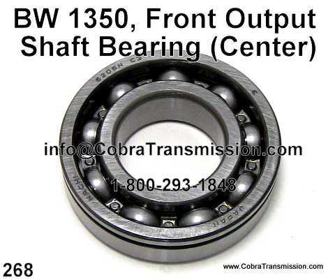 BW 1350, Front Output Shaft Bearing (Center)
