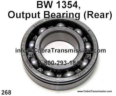 BW 1354, Output Bearing