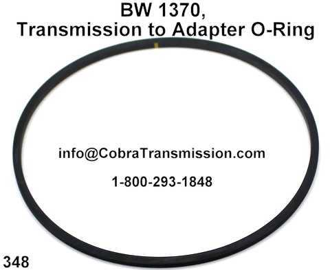 BW 1370, Transmission to Adapter O-Ring