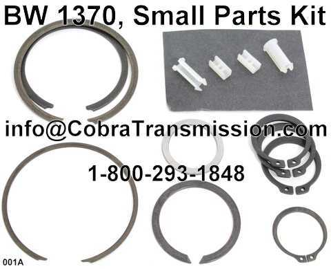 BW 1370, Small Parts Kit