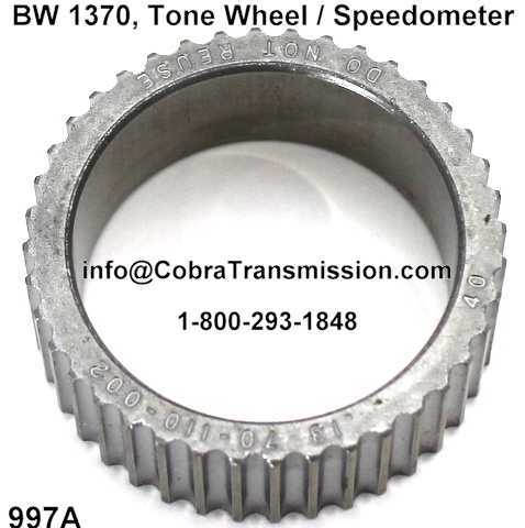 BW 1370, Tone Wheel / Speedometer