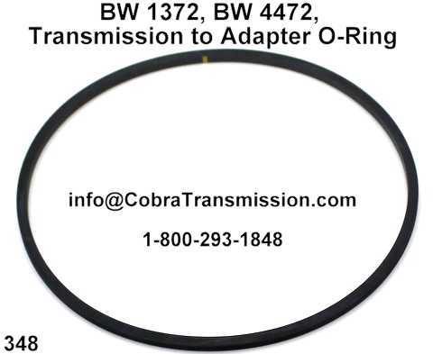 BW 1372, BW 4472, Transmission to Adapter O-Ring