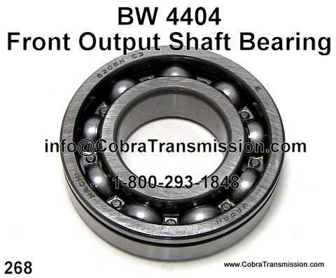 BW 4404, Front Output Shaft Bearing