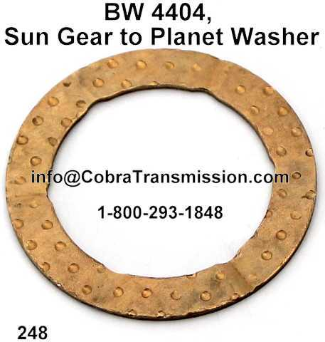 BW 4404, Sun Gear to Planet Washer