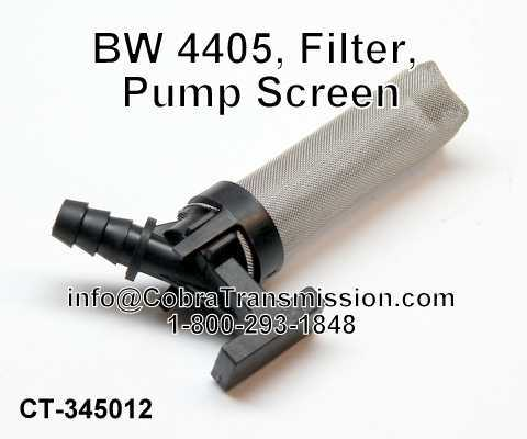 BW 4405, Pump Screen