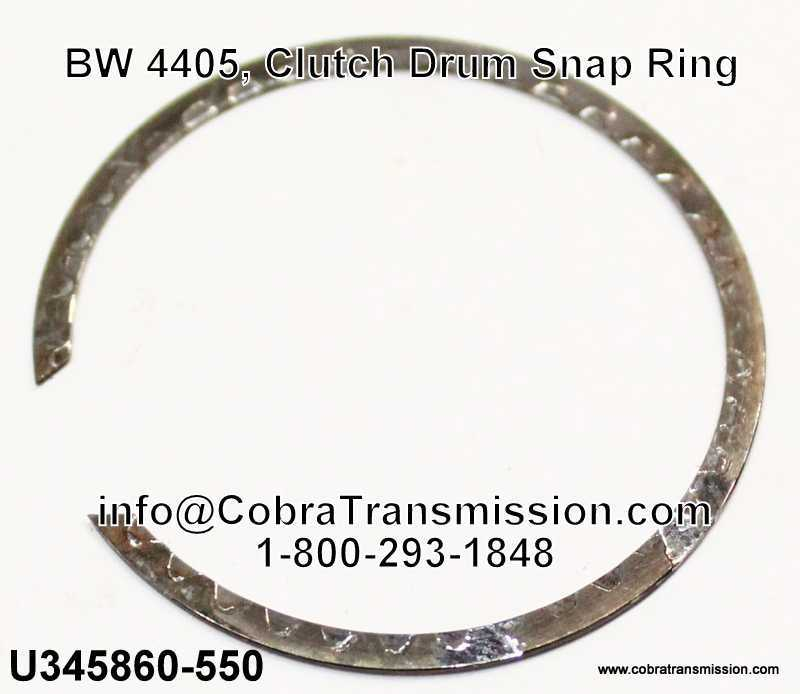 BW 4405, Clutch Drum Snap Ring