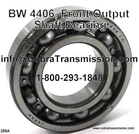 BW 4406, Front Output Shaft Bearing