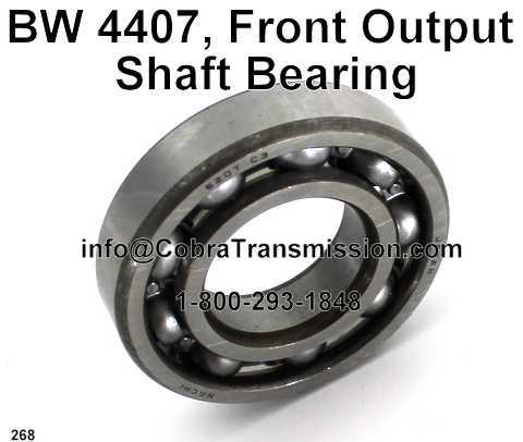 BW 4407, Front Output Shaft Bearing