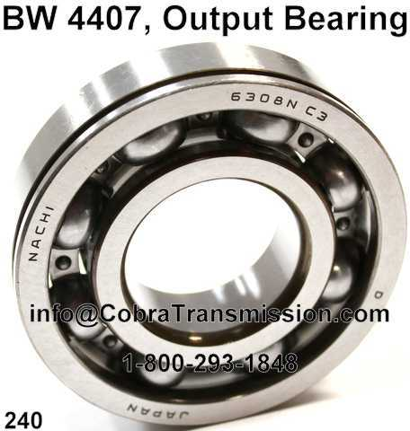 BW 4407, Output Bearing