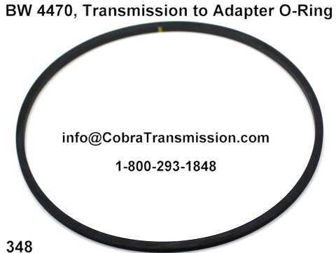 BW 4470, Transmission to Adapter O-Ring
