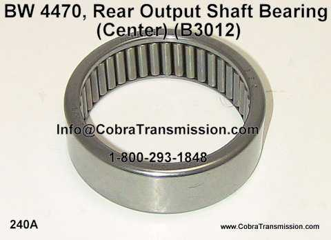 BW 4470, Rear Output Shaft Bearing