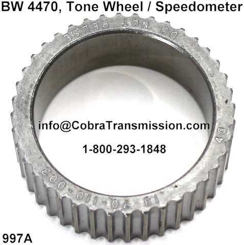 BW 4470, Tone Wheel / Speedometer