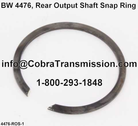 BW 4476, Rear Output Shaft Snap Ring