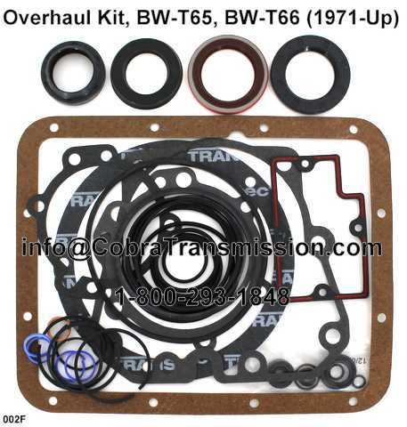Overhaul Kit, BW-T65, BW-T66 (1971-Up)