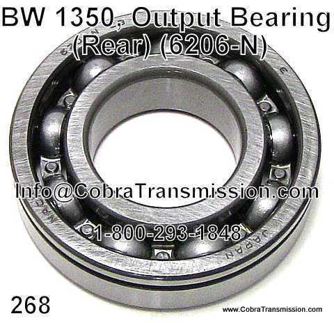 BW 1350, Output Bearing (Rear)