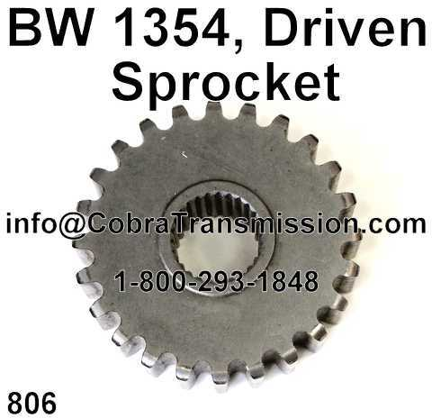 BW 1354, Driven Sprocket