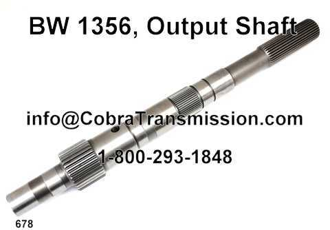 BW 1356, Output Shaft